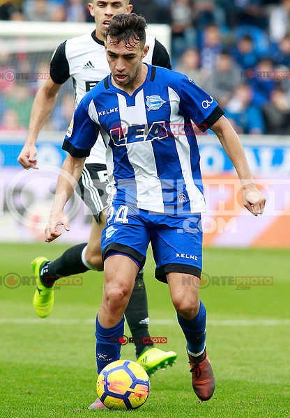 Deportivo Alaves' Munir El Haddadi during La Liga match. October 28,2017. (ALTERPHOTOS/Acero) /NortePhoto.com