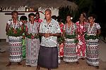 Rakiraki, Viti Levu, Fiji; Traditional Fijian dancers