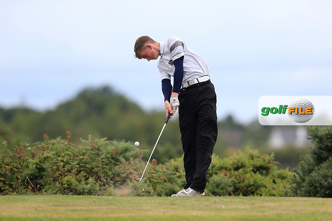 Ross Kelly (Tuam) during the first round of the Irish U16 Championship at The Heath Golf Club, Portlaoise, Co Laois  Ireland.  19/08/2015.<br /> Picture: Golffile | Fran Caffrey<br /> <br /> <br /> All photo usage must carry mandatory copyright credit (&copy; Golffile | Fran Caffrey)