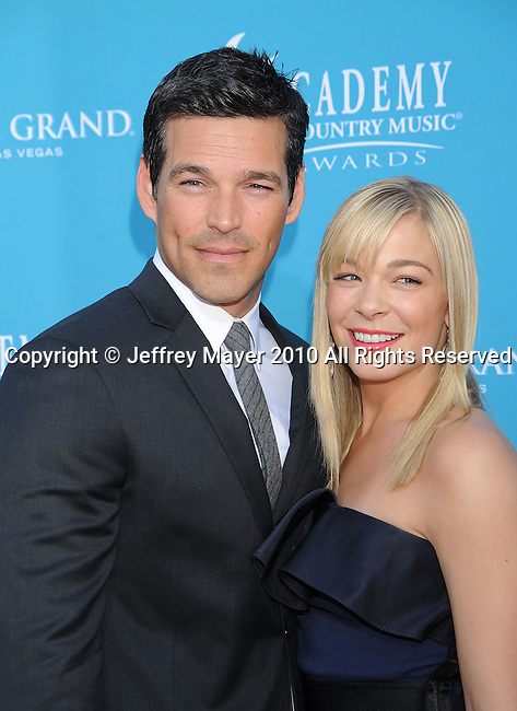 LAS VEGAS, Nevada - April 18: Actor Eddie Cibrian (L) and singer LeAnn Rimes arrive for the 45th Annual Academy of Country Music Awards at the MGM Grand Garden Arena on April 18, 2010 in Las Vegas, Nevada.