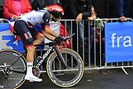 Matteo Bono (ITA) UAE Team Emirates in action during Stage 1, a 14km individual time trial around Dusseldorf, of the 104th edition of the Tour de France 2017, Dusseldorf, Germany. 1st July 2017.<br /> Picture: Eoin Clarke | Cyclefile<br /> <br /> <br /> All photos usage must carry mandatory copyright credit (&copy; Cyclefile | Eoin Clarke)