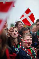 Danish scouts, Opening ceremony. Photo: Magnus Fröderberg/Scouterna