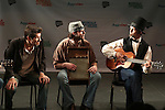 Herndon Lackey, Michael Abbott Jr. and J. Robert Spencer from 'Bayonets of Angst'  perform in a special preview of the 2014 New York Musical Theatre Festival (NYMF) at Ford Foundation Studio Theatre in The Pershing Square Signature Center on July 2, 2014 in New York City.