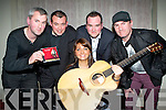 Killarney singer Helena Connolly with her band at her gig in the INEC acoustic club to launch her new CD 'The Reason Why' on Friday night, Andrew Doyle, Pa O'Connor, Ciaran Healy and Brendan O'Connor....