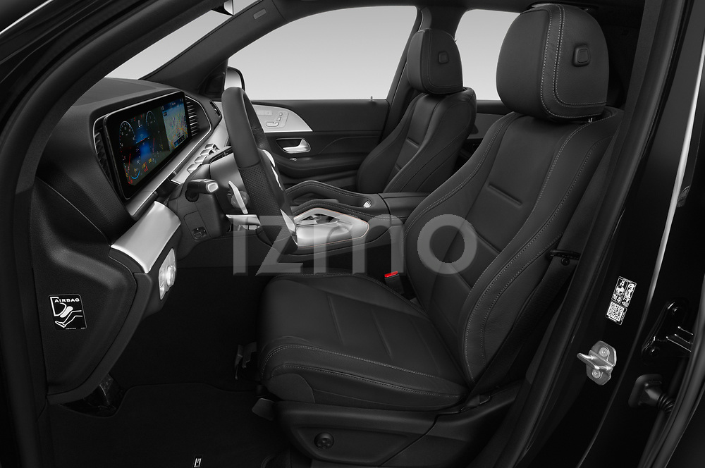 Front seat view of a 2020 Mercedes Benz GLE AMG-Line 5 Door SUV front seat car photos