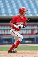 Zac Susi (50) of Southington High School in Southington, Connecticut playing for the Philadelphia Phillies scout team during the East Coast Pro Showcase on August 2, 2014 at NBT Bank Stadium in Syracuse, New York.  (Mike Janes/Four Seam Images)