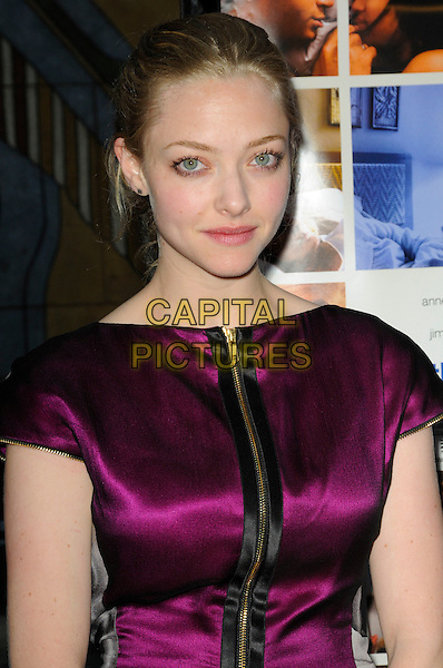 AMANDA SEYFRIED.The Sony Picture Classics L.A. Premiere of 'Mother and Child' held at The Egyptian Theatre in Hollywood, California, USA..April 19th, 2010 .half length dress purple pink silk satin black zip zipper.CAP/ROT.©Lee Roth/Capital Pictures