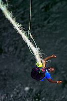LIVINGSTONE, VICTORIA FALLS, ZAMBIA, DECEMBER 2004. People jump from the bridhe over the Zambezi river between Zimbabwe and Zambia. Victoria falls on the border between Zambia and Zimbabwe is the outdoor adventure capital of Africa. Photo by Frits Meyst/Adventure4ever.com