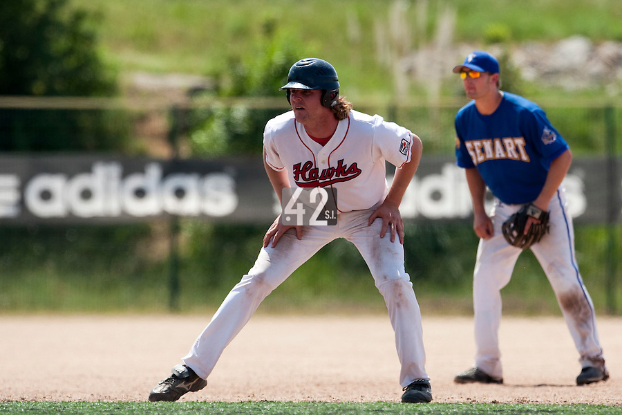 24 May 2009: Kyle Gruver of La Guerche is seen during the 2009 challenge de France, a tournament with the best French baseball teams - all eight elite league clubs - to determine a spot in the European Cup next year, at Montpellier, France. Senart wins 8-5 over La Guerche.