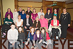MS: The Tralee MS branch Ireland held their annual Christmas party in the Meadowlands Hotel, Tralee on Sunday. Front l-r: Jake,Lucy,Maeve and Emma Linnane and Ciara Dolan. Seated l-r: Catherine Carroll, Marie McNamara, Fr Sean Hanifin, Babs McElligott, Henry Burrows and Marie Hanly. Back l-r: Mairead Russell, Maureen Lacey, Martin Lacey, Aileen McElligott, Michael McNamara, Veronica Curtin, Bridget O'Connor, Mary O'Keeffe, Catherine Dolan and Hannah Lynch....