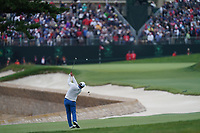 Jon Rahm (ESP) on the 18th fairway during the final round of the US Open Championship, Pebble Beach Golf Links, Monterrey, Calafornia, USA. 16/06/2019.<br /> Picture Fran Caffrey / Golffile.ie<br /> <br /> All photo usage must carry mandatory copyright credit (© Golffile | Fran Caffrey)