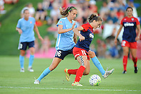 Boyds, MD - Saturday June 25, 2016: Sarah Killion, Estefania Banini during a United States National Women's Soccer League (NWSL) match between the Washington Spirit and Sky Blue FC at Maureen Hendricks Field, Maryland SoccerPlex.