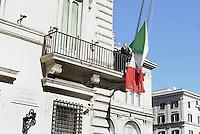Roma, 14 Febbraio 2014<br /> Palazzo Chigi<br /> Ammainata la bandiera alla fine dell'ultimo Consiglio dei Ministri Presieduto da Enrico Letta