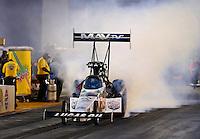 Jul. 26, 2013; Sonoma, CA, USA: NHRA top fuel dragster driver Brandon Bernstein during qualifying for the Sonoma Nationals at Sonoma Raceway. Mandatory Credit: Mark J. Rebilas-