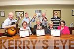 The O'Shea Brothers received awards at The Last Tralee Mayor's Awards in the Town Council chambers on Tuesday. Pictured front l-r Bridget O'Shea, Pat Hussey, Paula O'Shea, Eimear O'Shea, Back l-r Michael O'Shea, John O'Shea, Tim O'Shea and Frank O'Shea