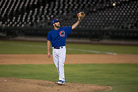 AZL Cubs 1 relief pitcher Corey Black (43) in a rehab assignment during an Arizona League game against the AZL Reds at Sloan Park on July 13, 2018 in Mesa, Arizona. The AZL Cubs 1 defeated the AZL Reds 4-1. (Zachary Lucy/Four Seam Images)