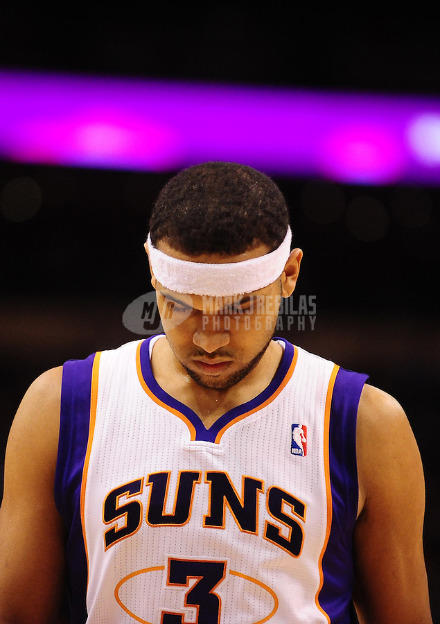 Dec. 3, 2010; Phoenix, AZ, USA; Phoenix Suns forward (3) Jared Dudley against the Indiana Pacers at the US Airways Center. The Suns defeated the Pacers 105-97. Mandatory Credit: Mark J. Rebilas-