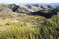 Stock photo: Hills and a valley in the south of Cyprus.