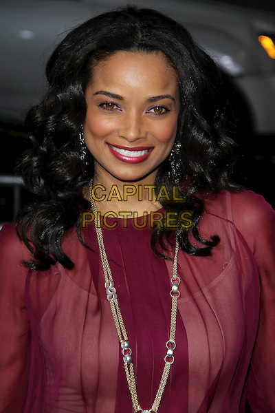 "Rochelle Aytes.""Joyful Noise"" Los Angeles Premiere held at Grauman's Chinese Theatre, Hollywood, California, USA..January 9th, 2012.headshot portrait necklace smiling lipstick pink red sheer blouse  .CAP/ADM/CH.©Charles Harris/AdMedia/Capital Pictures"