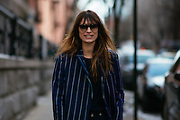Caroline de Maigret attends Day 4 of New York Fashion Week on Feb 16, 2015 (Photo by Hunter Abrams/Guest of a Guest)