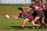 Puni halfback Greg Whareaitu passes from the base of a scrum. CMRFU Counties Power Cup Game of the Week between Te Kauwhata & Puni played at Te Kauwhata on Saturday May the 3rd, 2008..Te Kauwhata led 5 - 0 at halftime & went on to win 29 - 0.