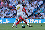 Fede Valverde  of Real Madrid and Darwin Daniel Machis of Granada CF during La Liga match between Real Madrid and Granada CF at Santiago Bernabeu Stadium in Madrid, Spain. October 05, 2019. (ALTERPHOTOS/A. Perez Meca)