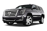 Stock pictures of low aggressive front three quarter view of a 2015 Cadillac Escalade Premium 5 Door SUV 2WD Low Aggressive