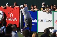 Joel Sjoholm (SWE) tees off on the 17th tee during Sunday's Final Round of the 2012 Omega Dubai Desert Classic at Emirates Golf Club Majlis Course, Dubai, United Arab Emirates, 12th February 2012(Photo Eoin Clarke/www.golffile.ie)