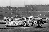 DAYTONA BEACH, FL - FEBRUARY 3: The race-winning Porsche 962 104 driven by A.J. Foyt, Bob Wollek of France, Al Unser and Thierry Boutsen of Belgium is driven on the infield road course during the 24 Hours of Daytona on February 3, 1985, at the Daytona International Speedway in Daytona Beach, Florida. (Photo by Bob Harmeyer)