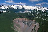 The Barrier at Garibaldi Lake, Garibaldi Provincial Park, near Squamish and Whistler, BC, British Columbia, Canada - Coast Mountains, Spring