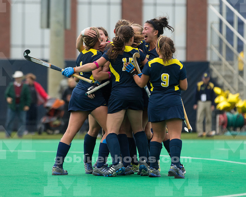 The University of Michigan field hockey team beat No. 18 Ohio State University, 3-1, at Ocker Field in Ann Arbor, Mich., on October 14, 2012.