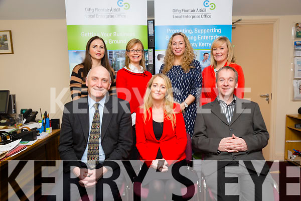 Kerry Local Enterprise Office Team front l-r Tomás Hayes- Head of Local Enterprise Office , Noreen O'Mahony, Economic planning, Victor Sheahan- Senior Enterprise Development Officer, Back l-r Brid Bowler, Deirdre Moynihan, Local Enterprise Office, Fiona Leahy- Businss Advise, Lisa O'Carroll, Local Enterprise Office