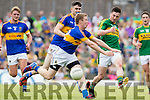 Paul Murphy Kerry in Action against Brian Fox Tipperary in the Senior Munster Football Final at Fitzgerald Stadium, Killarney on Sunday.