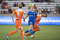 Houston, TX - Sunday Sept. 25, 2016: Manon Melis, Cami Privett during a regular season National Women's Soccer League (NWSL) match between the Houston Dash and the Seattle Reign FC at BBVA Compass Stadium.