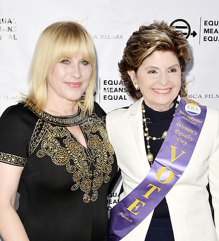 "BEVERLY HILLS, CA - AUGUST 26: Patricia Arquette and Gloria Allred attend the ""Equal Means Equal"" Special Screening at the Music Hall on August 20, 2016 in Beverly Hills, CA. Koi Sojer, Snap'N U Photos / MediaPunch"
