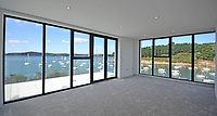 BNPS.co.uk (01202 558833)<br /> Pic: LillicrapChilcott/BNPS<br /> <br /> Sweeping vistas..<br /> <br /> A brand new futuristic property perched right on the edge of a sea wall overlooking some of the finest sailing waters in the country has gone up for sale for £4.5m.<br /> <br /> The ultra-modern home and just been built on remote headland in the Cornish sailing village of St Just.<br /> <br /> It replaced a large bungalow that stood on the coastal plot for over 80 years and was demolished by owner and architect Callum Wason.