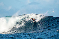 Namotu Island Resort, Nadi, Fiji (Friday, March 4 2016): Brisa Hennessy (HAW) - The swell was back down to  4'  today with with very light Trade Winds. <br /> There were waves at Namotu Lefts and Cloudbreak. <br /> The  guests took advantage of the conditions with a sessions at Cloudbreak, Namotu Lefts and Swimming Pools  Other guests went snorkelling, SUP paddling and fishing. <br /> Photo: joliphotos.com