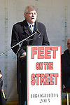 Dublin Independent TD Finian McGrath who spoke at the 'Feet on the Street' protest. Photo:Colin Bell/pressphotos.ie