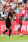 Bayern Munich Midfielder Franck Ribery (R) plays against AC Milan Defender Ignazio Abate (L) during the 2017 International Champions Cup China  match between FC Bayern and AC Milan at Universiade Sports Centre Stadium on July 22, 2017 in Shenzhen, China. Photo by Marcio Rodrigo Machado / Power Sport Images