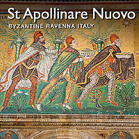 Pictures of The Basilica of Saint Apollinaire Nuovo Byzantine Roman  Mosaics, Ravenna