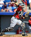 7 March 2011: Houston Astros' catcher Carlos Corporan in action during a Spring Training game against the Washington Nationals at Space Coast Stadium in Viera, Florida. The Nationals defeated the Astros 14-9 in Grapefruit League action. Mandatory Credit: Ed Wolfstein Photo