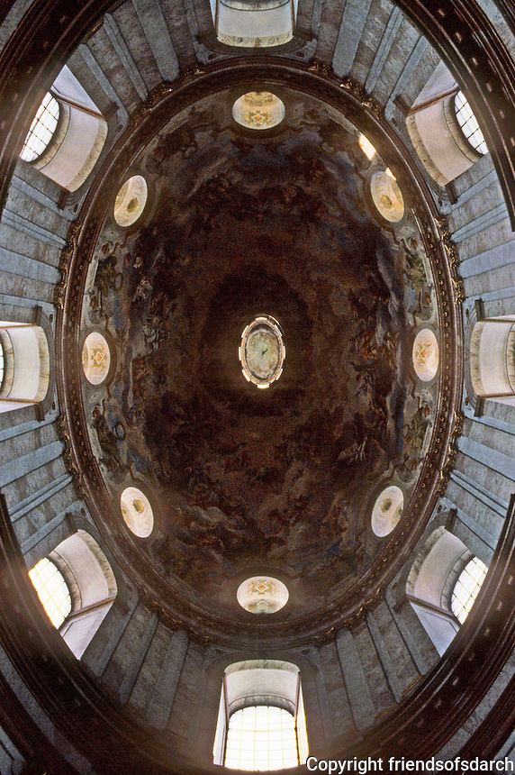 Vienna: St. Charles Borromeo--looking up to oval dome over nave.