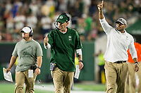 NWA Democrat-Gazette/BEN GOFF @NWABENGOFF<br /> Mike Bobo, Colorado State head coach, reacts after a touchdown in the 4th quarter vs Arkansas Saturday, Sept. 8, 2018, at Canvas Stadium in Fort Collins, Colo.