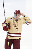 Pat Mullane (BC - 11) The Boston College Eagles defeated the Air Force Academy Falcons 2-0 in their NCAA Northeast Regional semi-final matchup on Saturday, March 24, 2012, at the DCU Center in Worcester, Massachusetts.