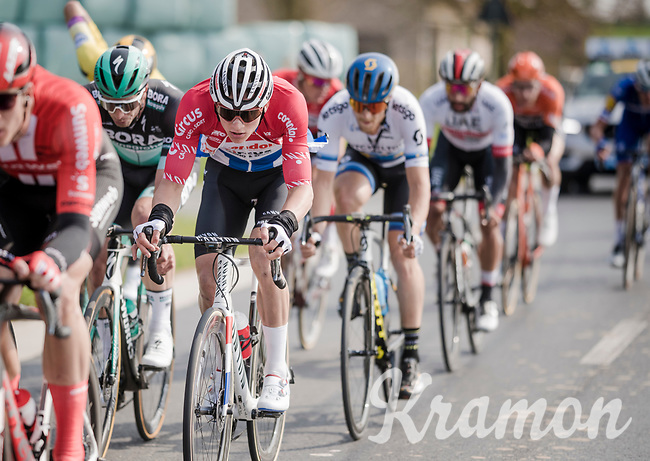 Mathieu Van Der Poel (NED/Correndon-Circus) being very active in the front group<br /> <br /> 81st Gent-Wevelgem 'in Flanders Fields' 2019<br /> One day race (1.UWT) from Deinze to Wevelgem (BEL/251km)<br /> <br /> ©kramon