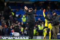 Chelsea manager Antonio Conte applauds the fans at the final whistle <br /> <br /> Photographer Craig Mercer/CameraSport<br /> <br /> The Premier League - Chelsea v West Bromwich Albion - Monday 12th February 2018 - Stamford Bridge - London<br /> <br /> World Copyright &copy; 2018 CameraSport. All rights reserved. 43 Linden Ave. Countesthorpe. Leicester. England. LE8 5PG - Tel: +44 (0) 116 277 4147 - admin@camerasport.com - www.camerasport.com