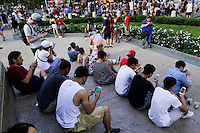 """NEW YORK, NY - JULY 24 : People play the augmented reality mobile game """"Pokemon Go"""" by Nintendo on July 24, 2016 in Manhattan, New York. Photo by VIEWpress"""
