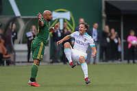 Portland, Oregon - Sunday, August 26, 2018: Portland Timbers vs. Seattle Sounders FC in a match at Providence Park.