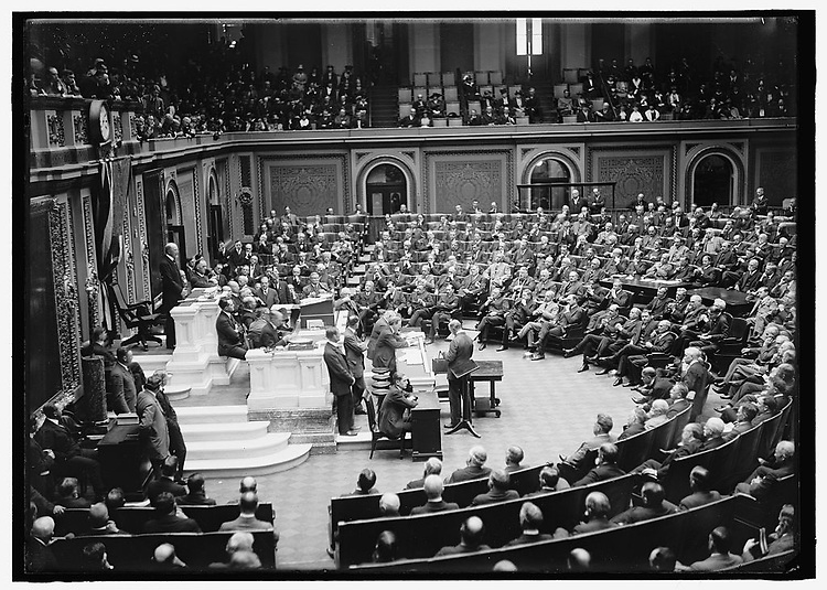 UNITED STATES - FILE PHOTO: The sixty-fifth U.S. Congress opens in May 1919.  (Photo By Library of Congress Prints and Photographs Division )