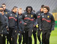 "The "" Diables Rouges "", the Belgian soccer team training in Brussels - Belgium"